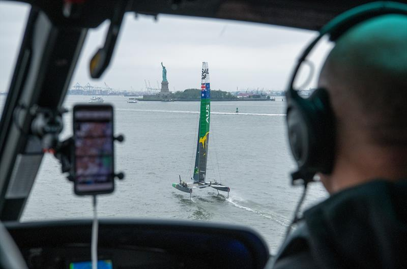 SailGP Team Australia skippered by Tom Slingsby during practice ahead of the Event 3 Season 1 SailGP event in New York City, New York, United States. 19 June. - photo © Chris Cameron for SailGP
