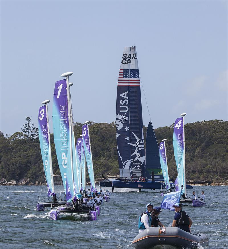 SailGP - RS Cat 14s and the Team USA F50 - photo © John Curnow