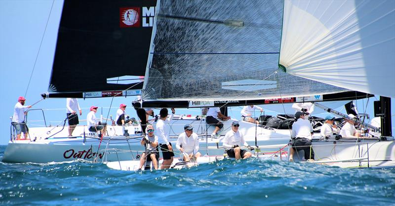 Outlaw and Nutcracker going head-to-head - Farr 40 Australian Open Series National Championship - photo © Jennie Hughes