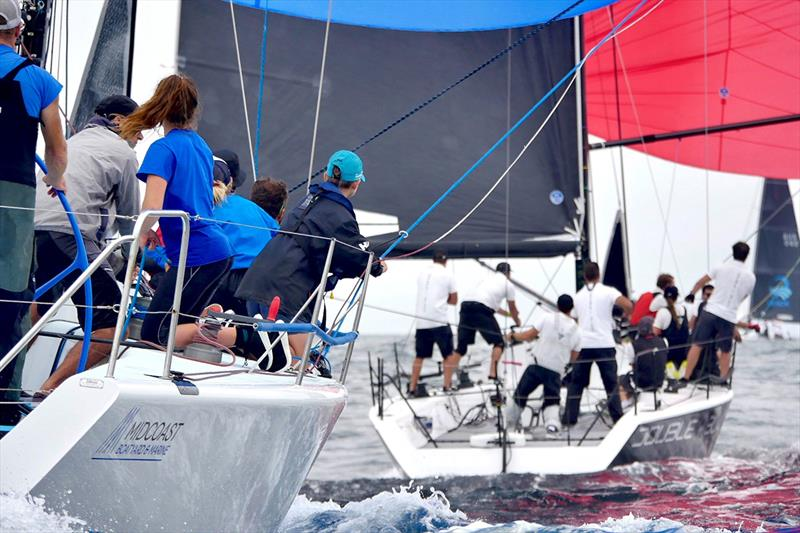 Good Form chasing Double Black - 2019 Farr 40 Australian Open Series National Championship - photo © Tilly Lock