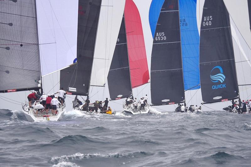 2019 Farr 40 Australian Open Series National Championship fleet downwind on the Macquarie Circle - photo © Tilly Lock
