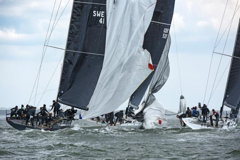Ran hugs close to Girls in Film in the Fast 40  class but still pulls off the overall series lead - RORC Vice Admiral's Cup 2019 - photo © Rick Tomlinson