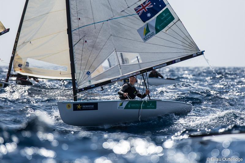 Jake Lilley at the Trofeo Princesa Sofía IBEROSTAR photo copyright Beau Outteridge taken at Club Nàutic S'Arenal and featuring the Finn class