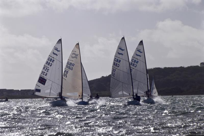 Finn display team on the final day of the Christchurch Harbour Interclub Series - photo © Mike Roach