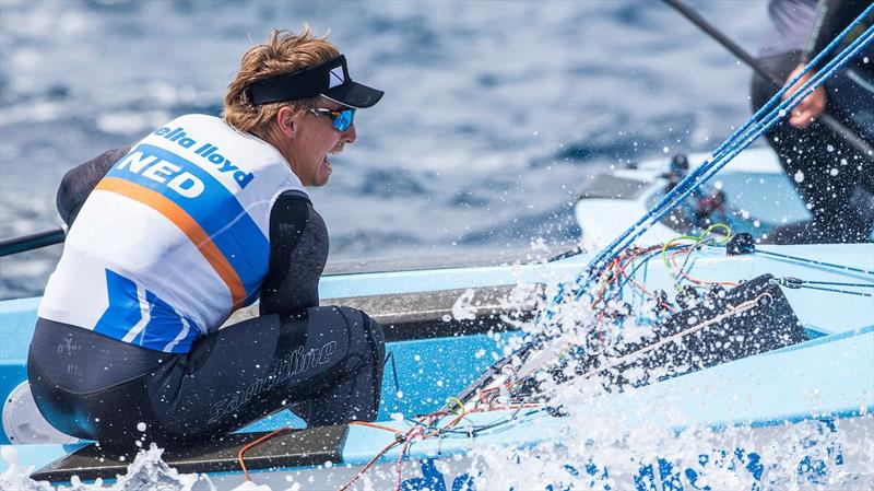 Finn leader Nic Heiner on day 3 of World Cup Hyères - photo © Jesus Renedo / Sailing Energy