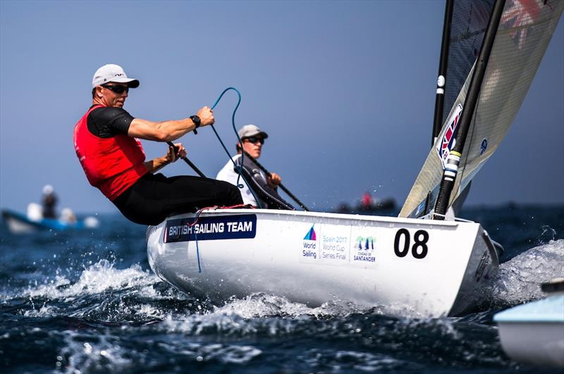 Finn Bronze for Ed Wright at the World Cup Series Final in Santander - photo © Pedro Martinez / Sailing Energy / World Sailing