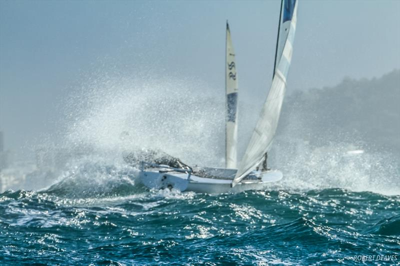 High wind Finn sailing at Rio 2016 - photo © Robert Deaves