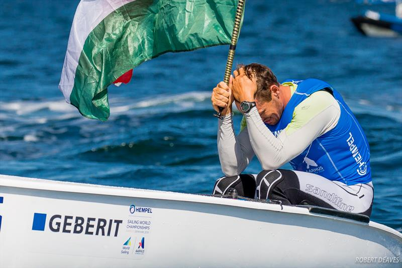 Berecz still trying to take it in at the 2018 Hempel Sailing World Championships Aarhus - photo © Robert Deaves