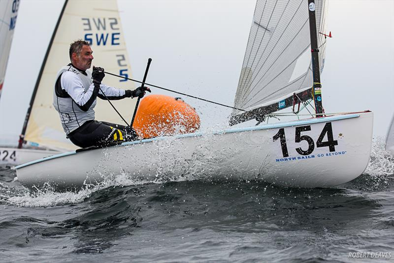 Laurent Hay on day 2 of the  2019 Finn World Masters in Skovshoved, Denmark - photo © Robert Deaves