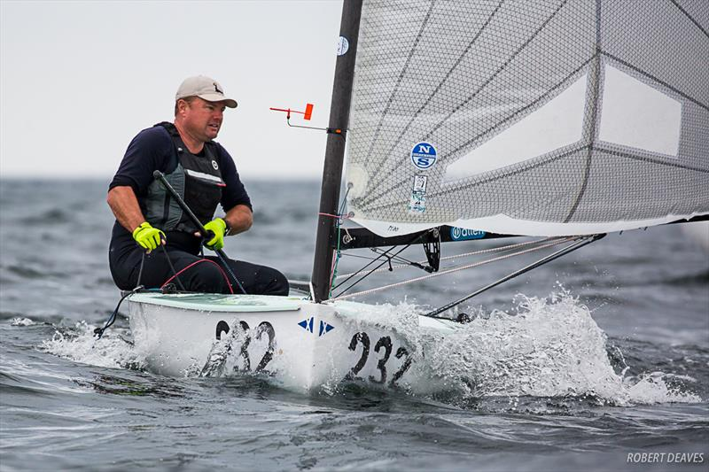 Anthony Nossiter on day 2 of the  2019 Finn World Masters in Skovshoved, Denmark - photo © Robert Deaves