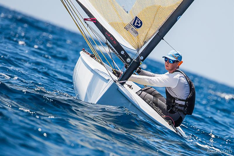 Liam Orel at the Finn Silver Cup in Anzio - photo © Robert Deaves
