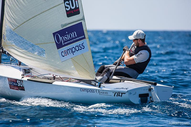 Nils Theuninck at the Finn Silver Cup in Anzio - photo © Robert Deaves