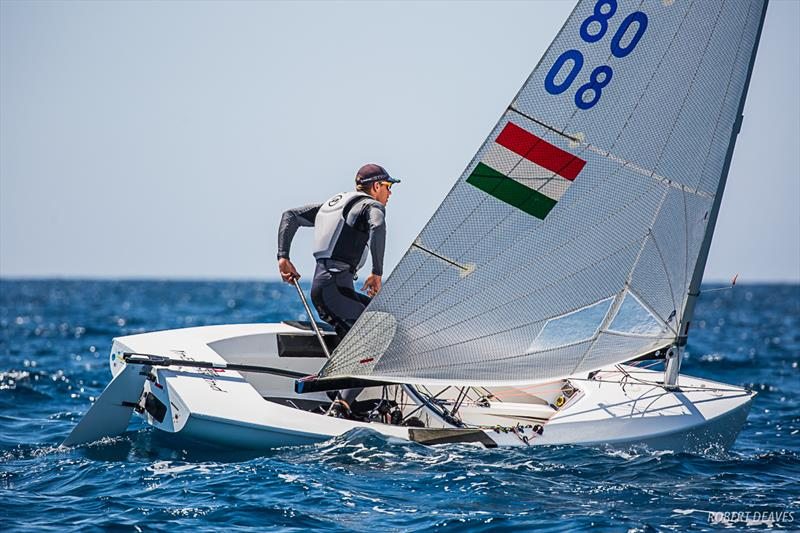Doma Nemeth at the Finn Silver Cup in Anzio - photo © Robert Deaves