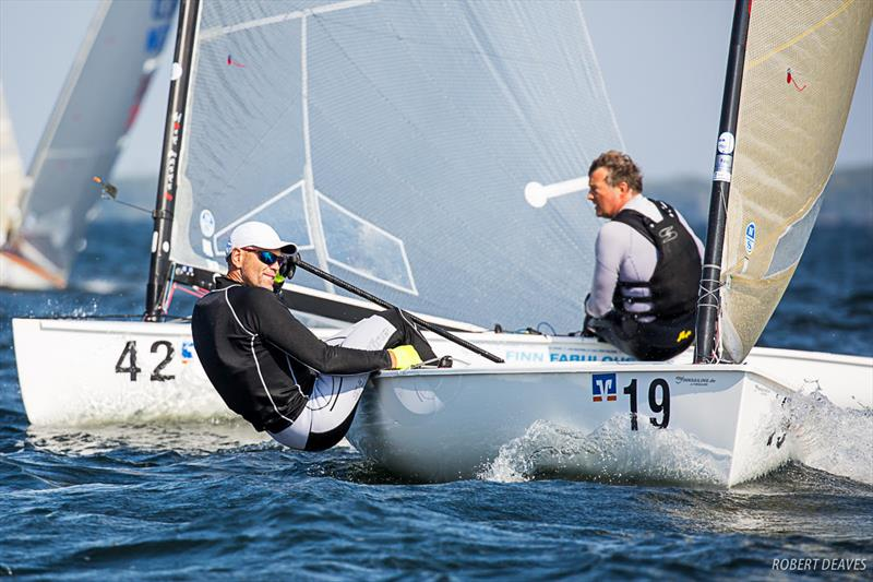 Andre Budzien on day 1 of the Finn European Masters in Schwerin - photo © Robert Deaves