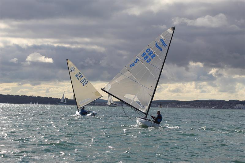 Warsash Finn Open photo copyright Nigel Rennie taken at Warsash Sailing Club and featuring the Finn class