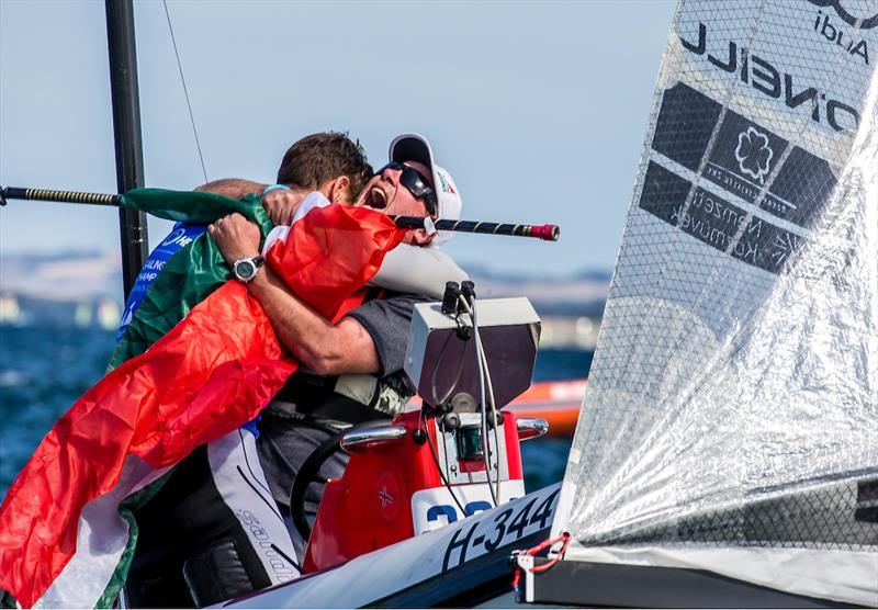 Zsomber Berecz wins in the Finn class at the 2018 Hempel Sailing World Championships Aarhus - photo © Sailing Energy / World Sailing