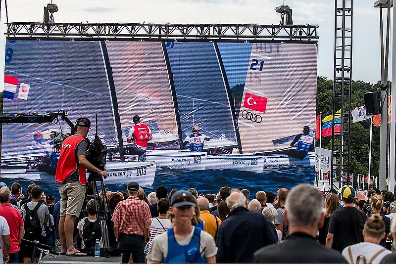 Finn - Day 8 - Hempel Sailing World Championships, Aarhus, Denmark - August 2018 photo copyright Sailing Energy / World Sailing taken at  and featuring the Finn class
