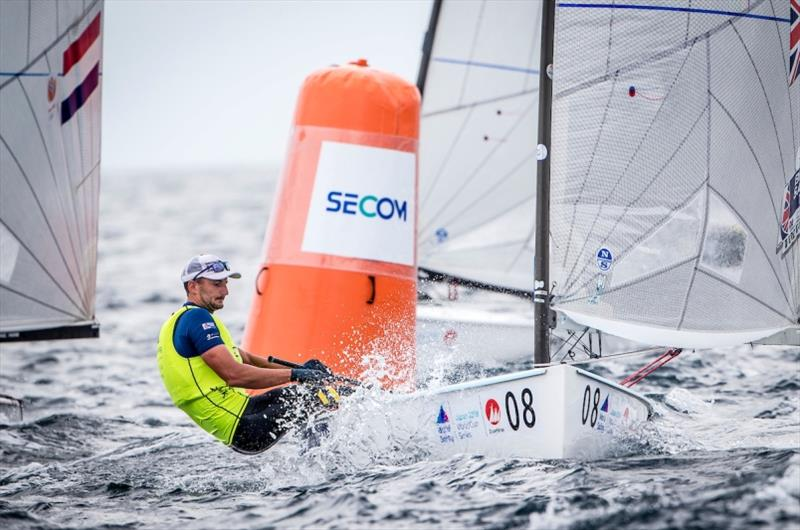 Giles Scott (GBR) in the Finn on Day 2 at World Cup Series Enoshima - photo © Jesus Renedo / Sailing Energy / World Sailing