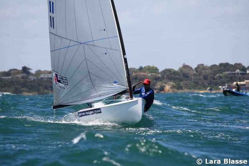 Ed Wright is up to third overall - Day 4, Ronstan Australian Finn Championship 2019 - photo © Lara Blasse