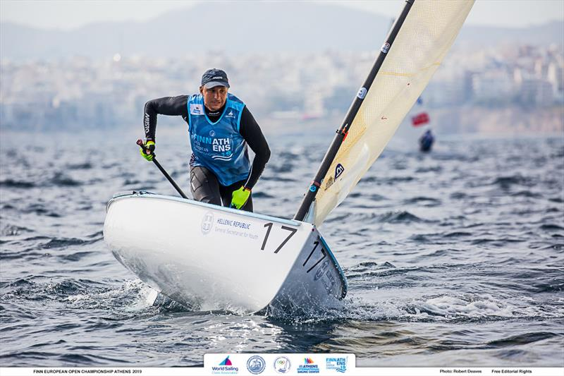 Ioannis Mitakis - 2019 Finn Open European Championship - photo © Robert Deaves