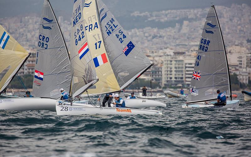 Mark Rounding - Day 3 -  Finn European Championship - Athens, Greece - photo © Robert Deaves / Finn Class