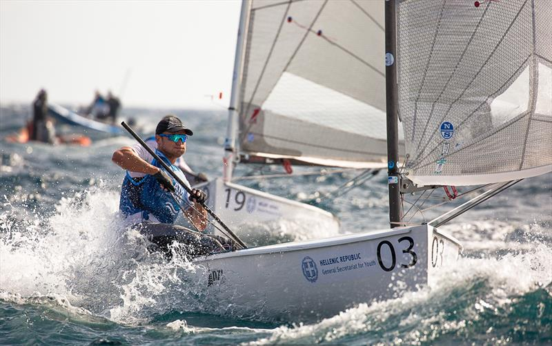 Josh Junior (NZL) - Day 3 -  Finn European Championship - Athens, Greece - photo © Robert Deaves / Finn Class