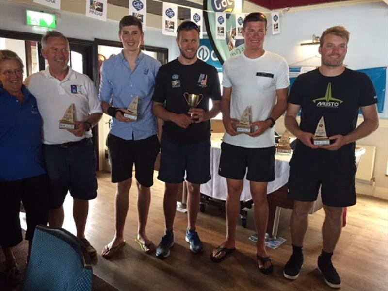 Top 5 finishers. From left John Greenwood, Hector Simpson, James Skulczuk, Callum Dixon, Pete McCoy. - UK Finn Nationals - photo © John Heyes