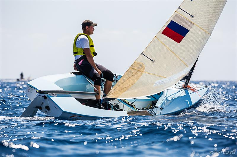 Mikail Iatsun - Day 4 - Finn Silver Cup in Anzio - photo © Robert Deaves