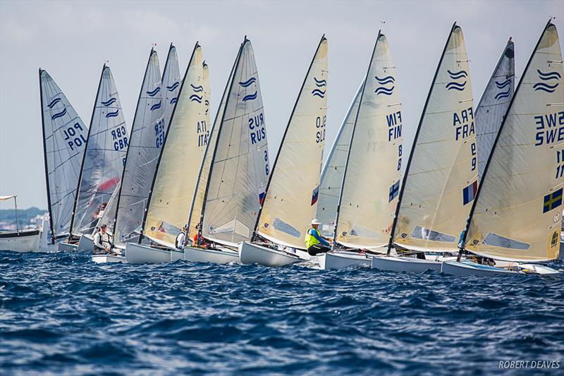 Start race 11 - Day 4 - Finn Silver Cup in Anzio - photo © Robert Deaves