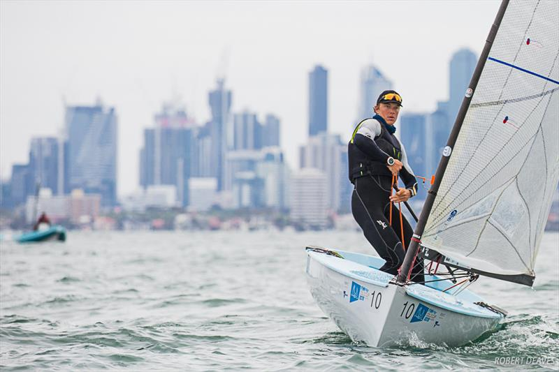 Australia's Jake Lilley in the Practice Race - Finn Gold Cup - Melbourne, Australia - photo © Robert Deaves