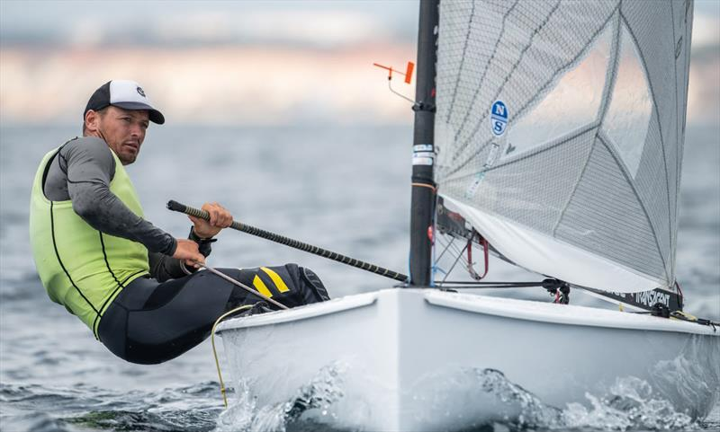 Zsombor Berecz, HUN - 2021 Open and U23 Finn European Championship photo copyright Joao Costa Ferreira taken at  and featuring the Finn class
