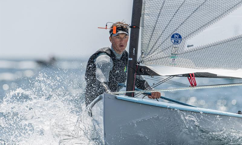 Jake Lilley - 2021 Open and U23 Finn European Championship photo copyright Joao Costa Ferreira taken at  and featuring the Finn class