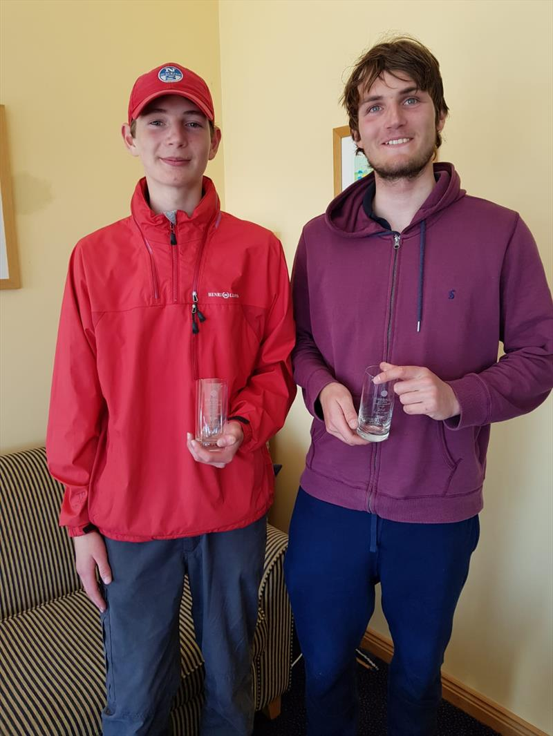 (l-r) Harry & Daniel Thompson, 2nd in the Fireball Ulsters at Newtownards photo copyright Frank Miller taken at Newtownards Sailing Club and featuring the Fireball class
