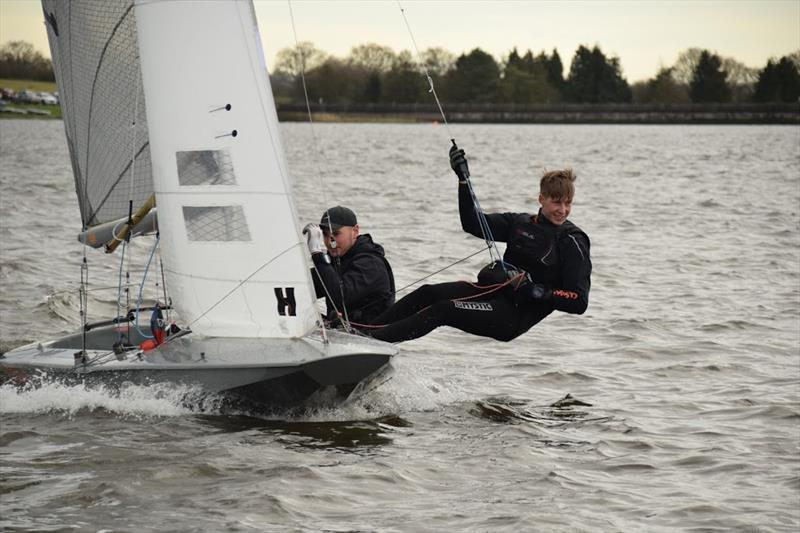 Blithfield Barrel Round 2 photo copyright Neil David taken at Blithfield Sailing Club and featuring the Fireball class