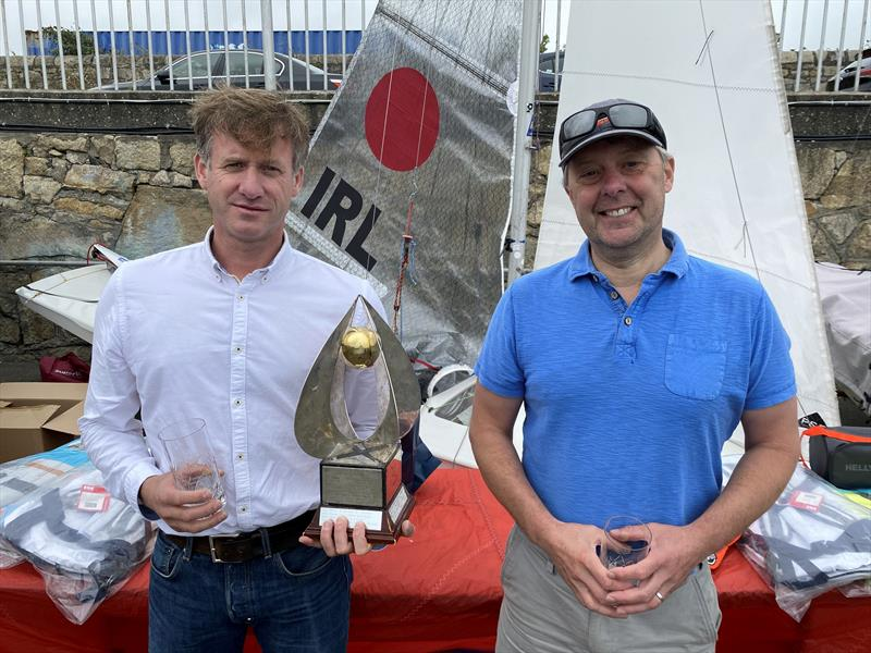 Helly Hansen Irish Fireball Champions - Noel Butler and Stephen Oram photo copyright Frank Miller taken at Dun Laoghaire Motor Yacht Club and featuring the Fireball class