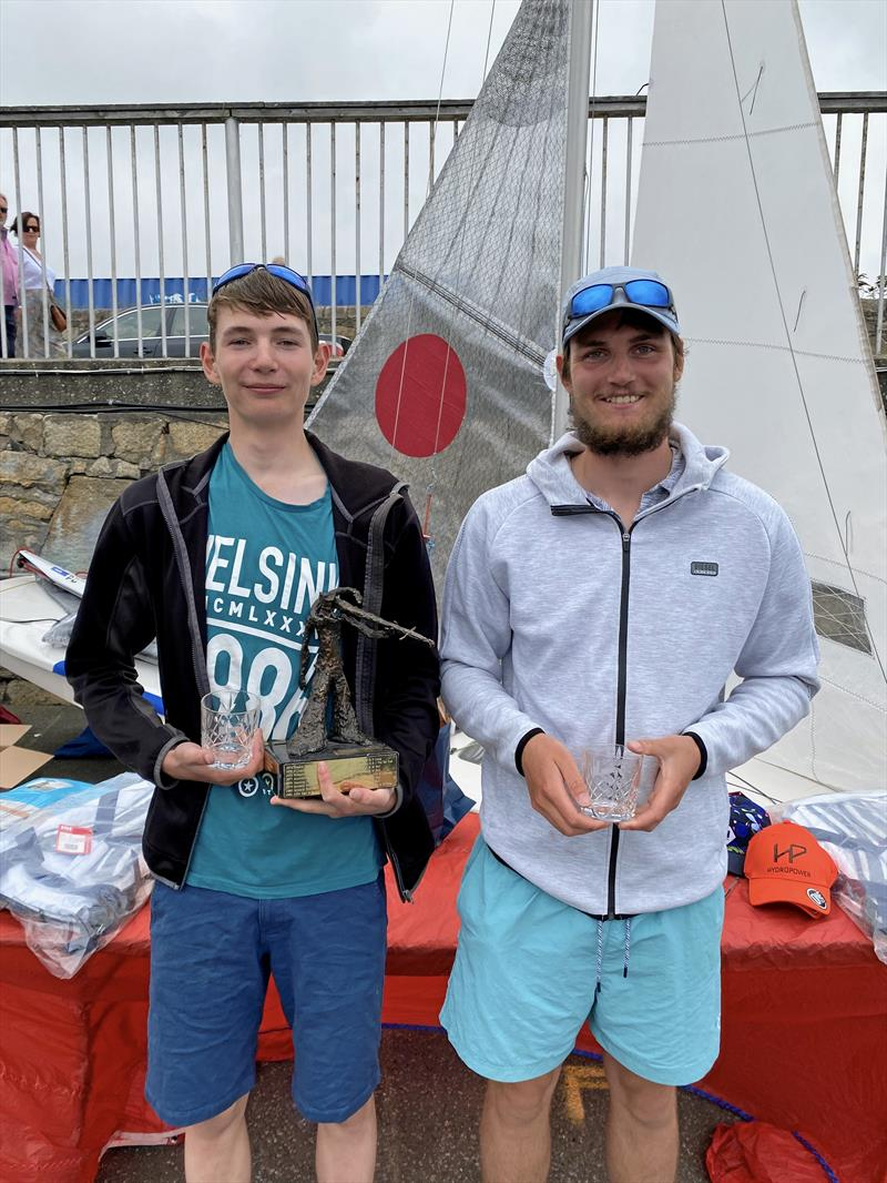 Helly Hansen Irish Fireball Championships - 3rd Overall; Daniel and Harry Thompson photo copyright Frank Miller taken at Dun Laoghaire Motor Yacht Club and featuring the Fireball class