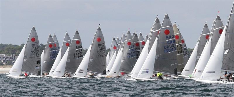 2018 Gul Fireball Worlds at Carnac photo copyright Urs Kueblis taken at Yacht Club de Carnac and featuring the Fireball class