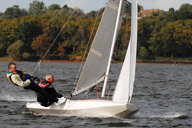 Colin and Derek Jarvis compete at Chew photo copyright Errol Edwards taken at Chew Valley Lake Sailing Club and featuring the Fireball class