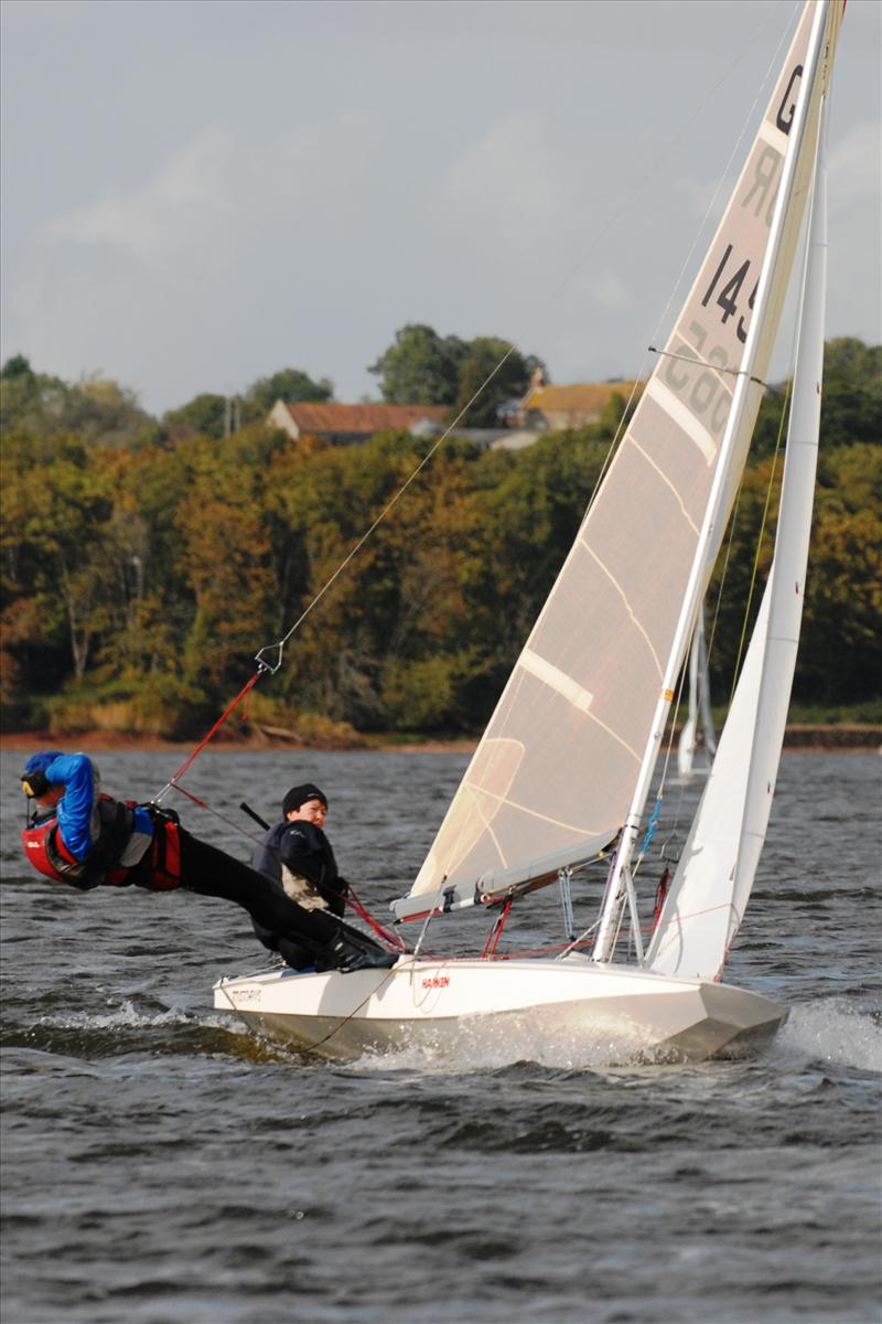 Elaine and Graham Slater compete at Chew photo copyright Errol Edwards taken at Chew Valley Lake Sailing Club and featuring the Fireball class