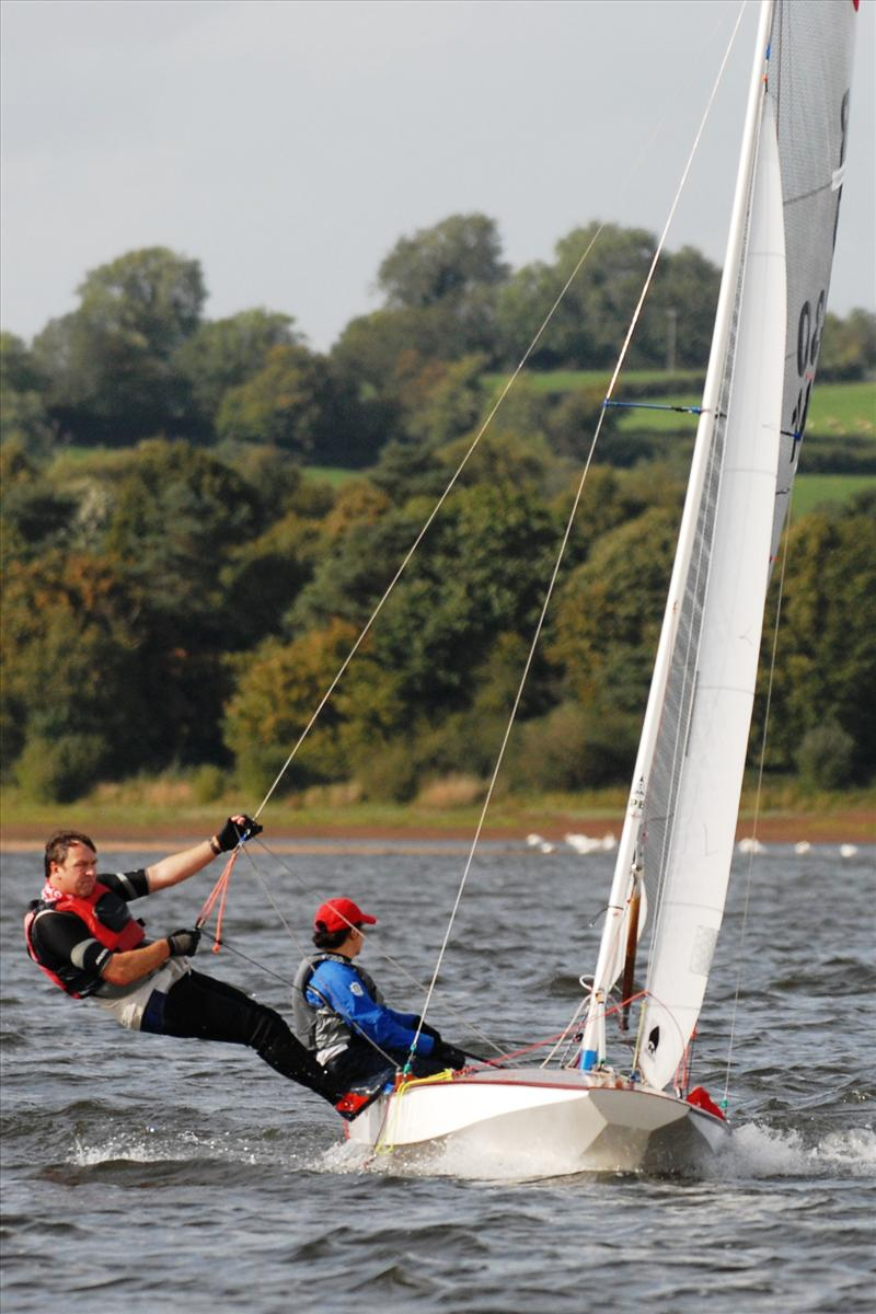 Maria Richards and Dave Nicholls compete at Chew photo copyright Errol Edwards taken at Chew Valley Lake Sailing Club and featuring the Fireball class