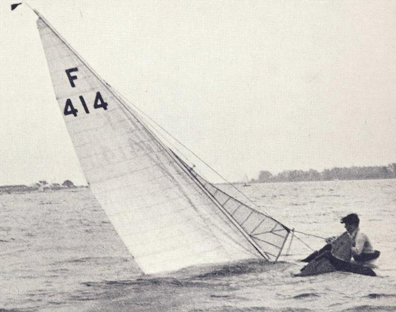 Those who spoke against the use of the Firefly at Torquay may have had a point, for a capsize could well be a race ending event (event for one as committed as the young Vernon Stratton, seen here in Chichester Harbour - photo © Henshall