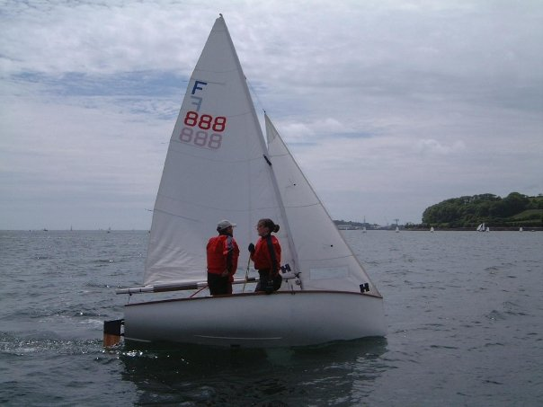 60 year old Firefly on display at 60th RYA Volvo Dinghy Show