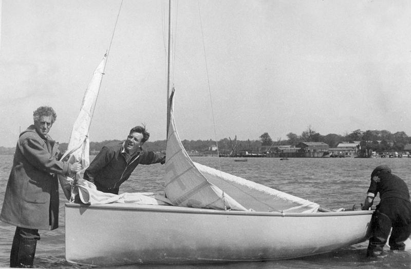 A momentous day for dinghy sailing as the prototype Firefly is launched into the Hamble River - photo © Fairey Marine