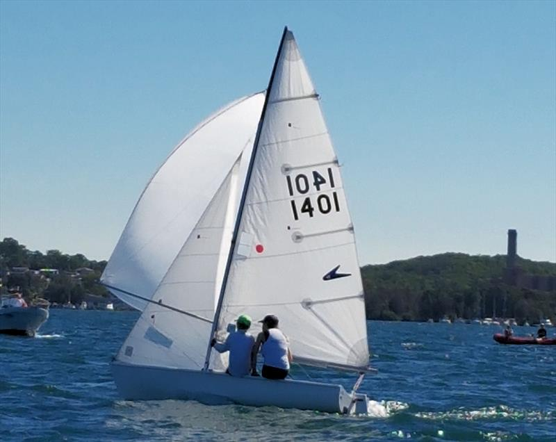 Chelsea Williams sailing a Flying 11 on Lake Macquarie - photo © Jenny Sorensen