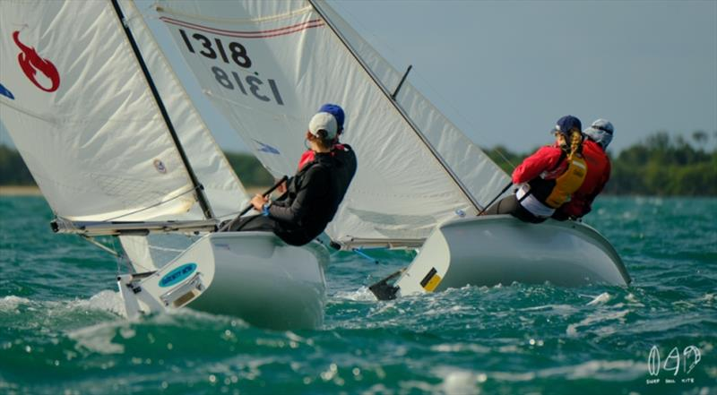 Day 2 - 2019 Musto Queensland Youth Regatta - photo © Mitchell Pearson / SurfSailKite