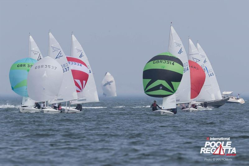 International Paint Poole Regatta 2018 day 1 photo copyright Ian Roman / International Paint Poole Regatta taken at  and featuring the Flying Fifteen class