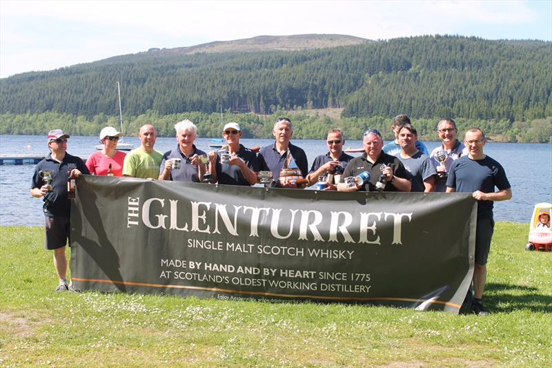 Flying Fifteen 2018 Scottish Championship prize winners photo copyright Sally McKee taken at Loch Tummel Sailing Club and featuring the Flying Fifteen class