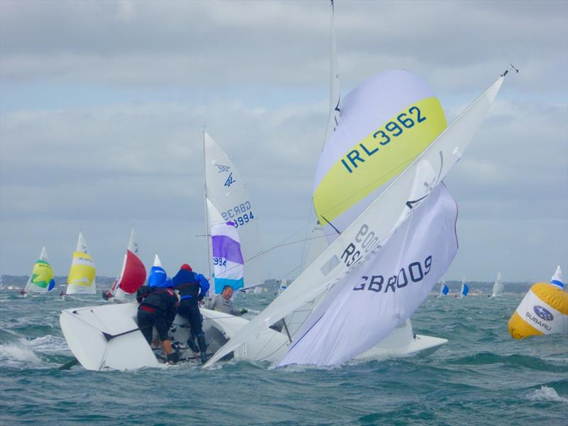 Wing mark drama on day 5 Subaru Flying Fifteen World Championship - photo © Jonny Fullerton