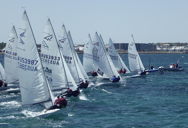 Flying Fifteens racing off Fremantle photo copyright Jonny Fullerton taken at  and featuring the Flying Fifteen class