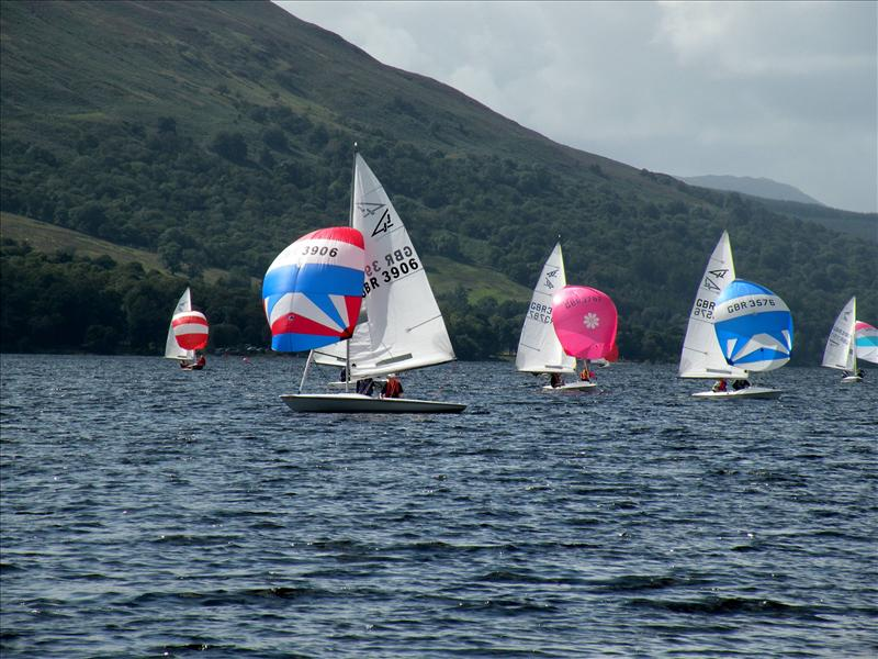 Racing for the the Skelly Trophy at the 2009 Scottish Championships photo copyright Len Paterson taken at Loch Earn Sailing Club and featuring the Flying Fifteen class